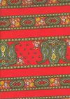 ROT44 Indienne Paisley rouge Streifen